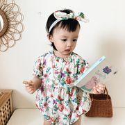 連体衣 ワンピース 赤ちゃん プリンセス パジャマ ベビー さくらんぼ模様冷感ファッション 韓国子供服 新作