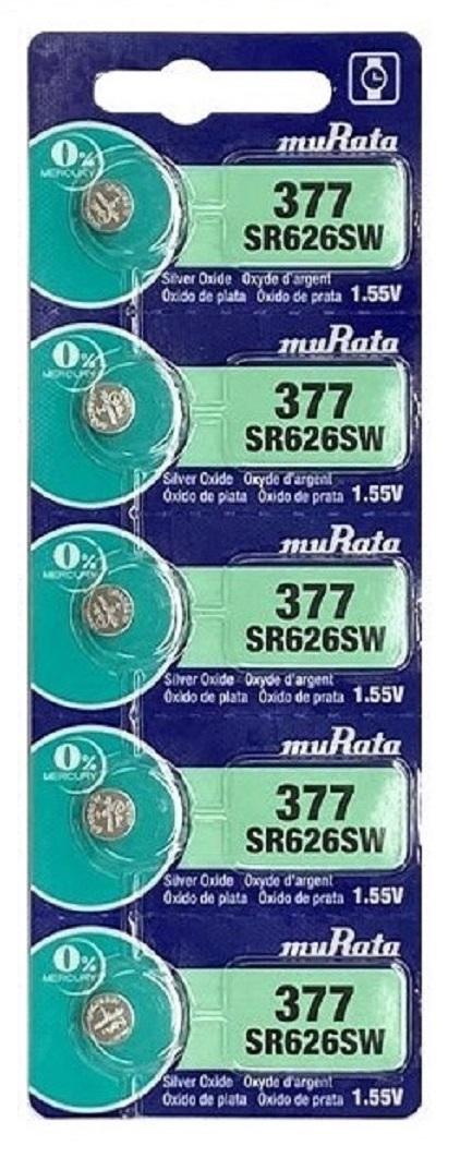 旧SONY/muRata ボタン電池 SR626SW(377) 海外パッケージ