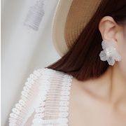 新品 ファッション  イヤリング ピアス お花 パール フラワー カラフル 3色 人気