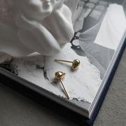 韓国アクセサリー 925シルバー デザインピアス ゴールド
