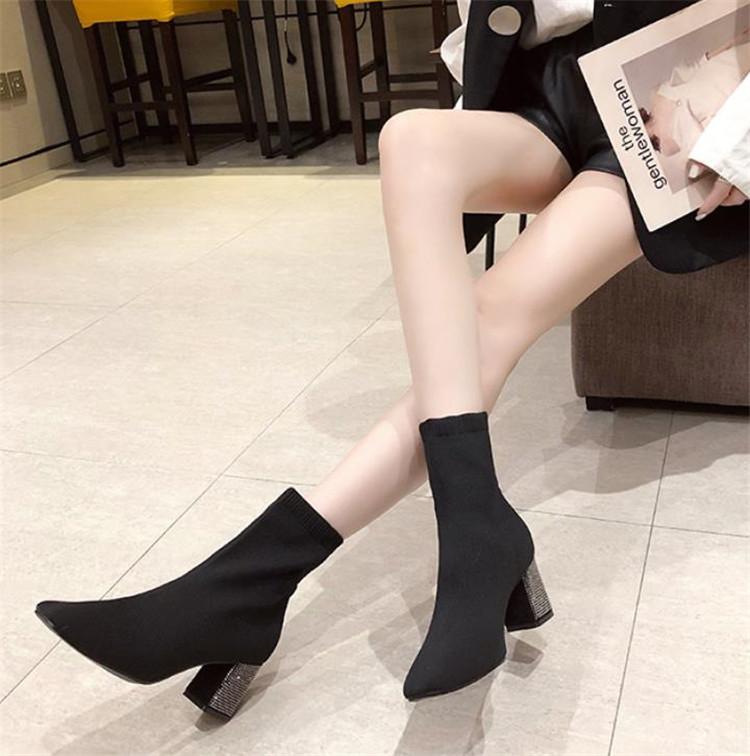 ショートブーツ 春秋 シングルブーツ デザインセンス ファッション 大人気 太いヒール