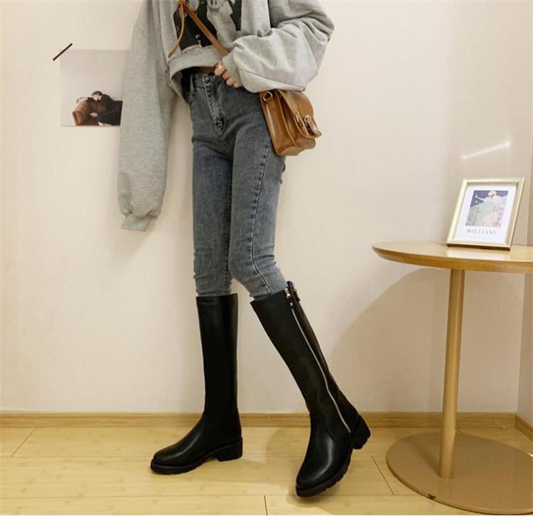 限定SALE 秋も使える 韓国ファッション ロングブーツ マーチンブーツ カジュアル  シングルブーツ