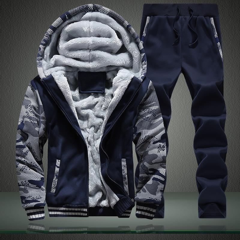 冬 裏毛付きメンズセットアップ メンズジャケットセット スポーツセット スウェット+パンツ