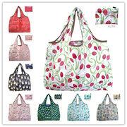 大容量 ショッピングバッグ エコバッグ レジ袋 折りたたみバッグ 小物収納 旅行出張用 トートバッグ