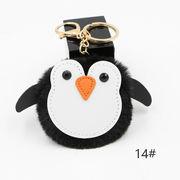 ins新作◆大人気 可愛い キーホルダー ポンポン エコファー ファーチャーム ペンギン 8cm 11-20#色