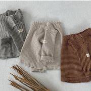 秋 子供シャツ キッズ服 ブラウス  トップス 女の子 男の子 tシャツ 子供服 ボーダー