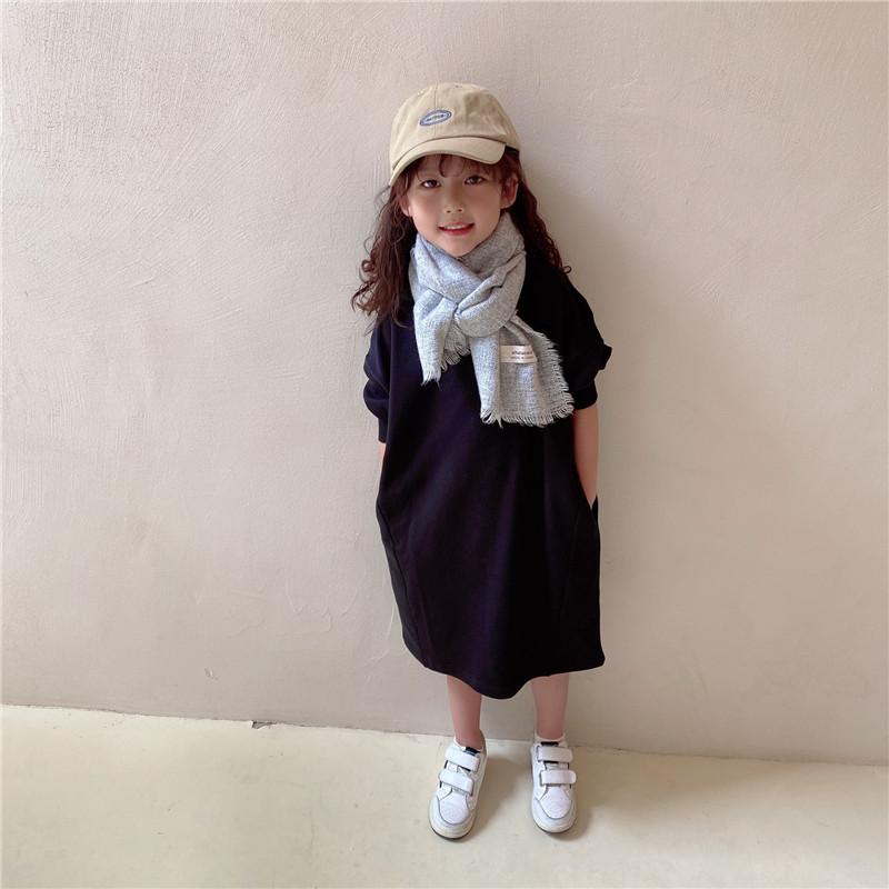 m16109 Tシャツ ワンピース 2色 親子服 カジュアル  女の子 秋冬新作 SALE 韓国子供服