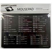 マウスパッド ショートカットキー表 モノクロ MPS-2 #