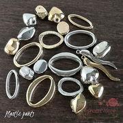 (単価約2.8円から)メッキ加工 プラスチックパーツ 全11種 20個・40個 ゴールド シルバー beads873