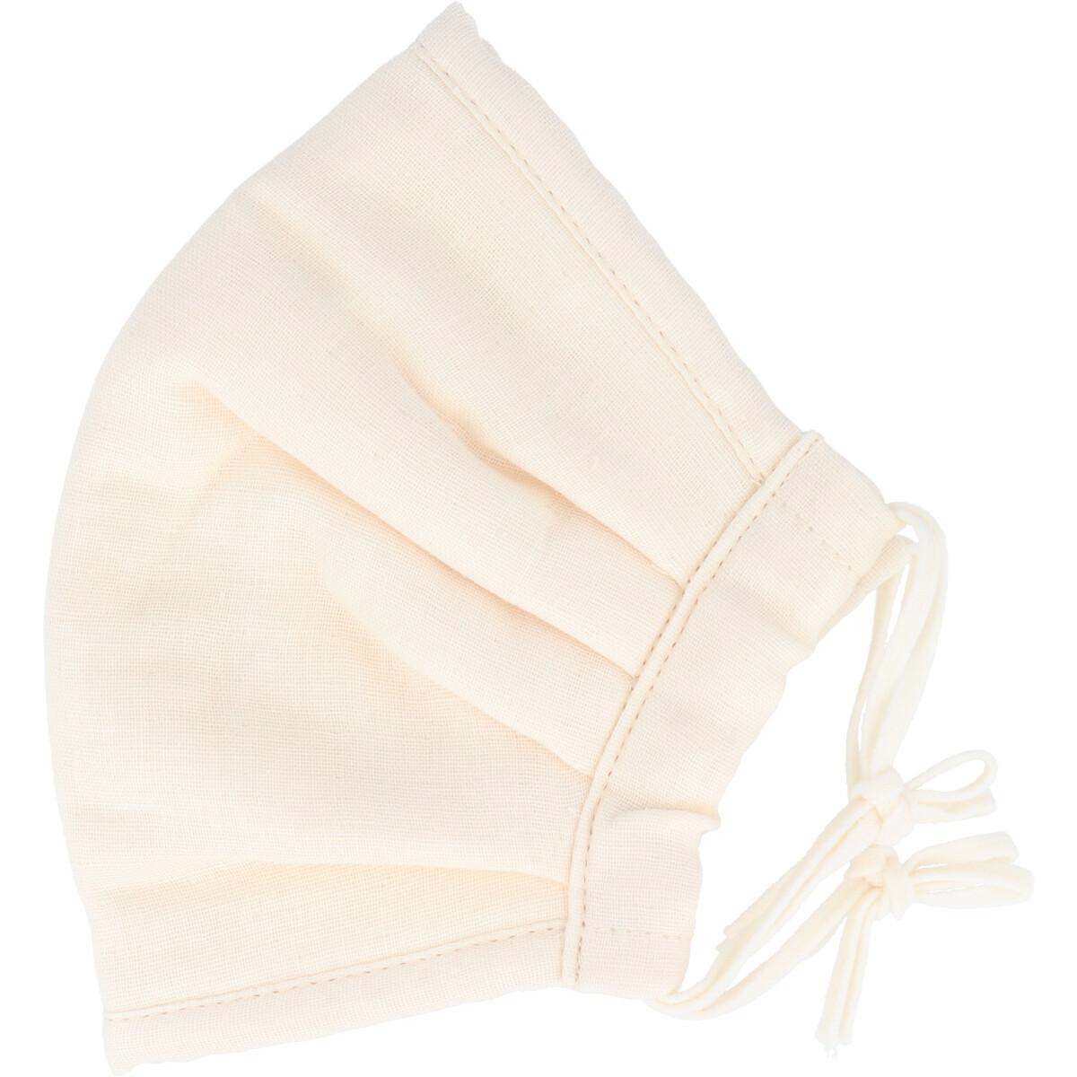 ふわふわマスク 今治産タオル 超敏感肌用 アイボリー ゆったり大きめサイズ 1枚入