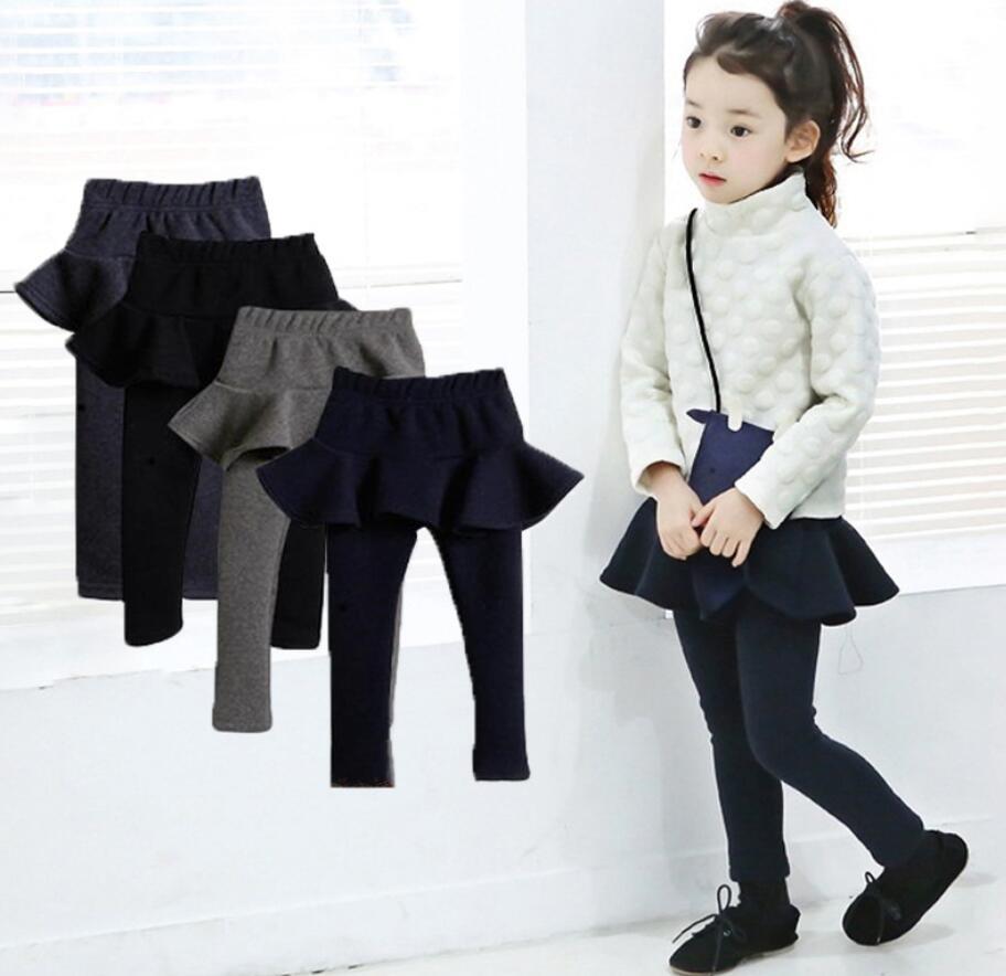 レギンス付きスカート 韓国子供服  キッズ 女の子 総チュチュ 2段フリル チュール リボン スカッツ