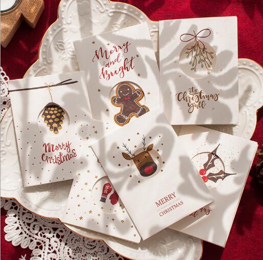 【雑貨】プレゼント クリスマスグッズ クリスマスカード ハガキ 封筒付き