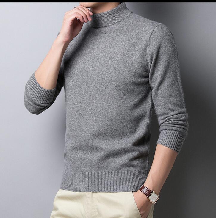 ニット メンズ セーター 長袖ニットセーターメンズファッション 無地