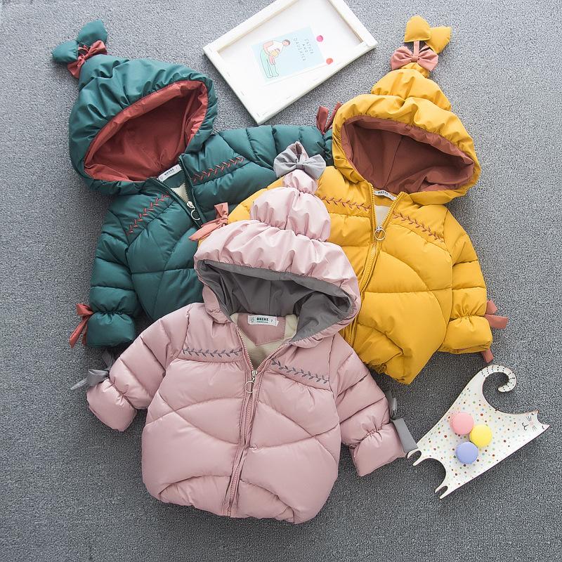 【KID】冬服 コート 厚いジャケット 暖かい子供服 無地 シンプル 冬秋 全3色