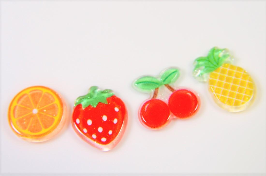 【春夏アクセサリー】フルーツピース/フルーツパーツ/デコパーツ/いちご/さくらんぼ/パイナップル