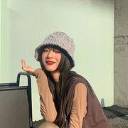 帽子 ニット ビンテージ 秋冬 ビンテージ レディース 韓国ファッション