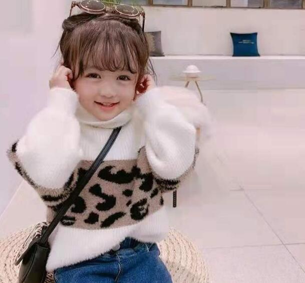 2020年新作★キッズトップス★可愛いセーター★ヒョウ柄★80-140