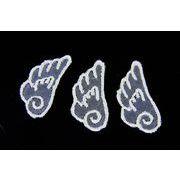 【トレンドパーツ】レース素材/刺繍パーツ/天使の羽根刺繍パーツ/ネッシー最安値