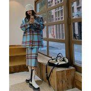 1枚でオシャレ見えが叶う 韓国ファッション ウールジャケット 中・長セクション ダブルボタン