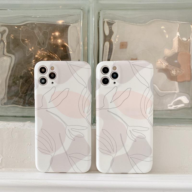 北欧風 iphoneケース リーフ iphone12 ケース スマホケース