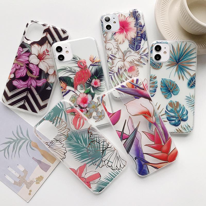 iPhone 12mini ケース ボタニカルデザイン ハワイアン iphone11 ケース iPhoneXSMax PhoneXS