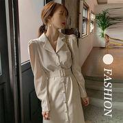 【Women】2021年新作 雰囲気のある大人の着こなし フレアワンピース 上品 エレガント Aライン
