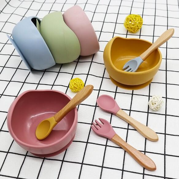 ベビー 碗+スプーン  摂食ベビー 皿 摂食ベビー 赤ちゃんや幼児