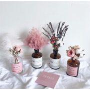 北欧 永遠の花 ブーケ 家具 装飾 小さい新鮮な ジプソフィラ 花瓶付き ドライフラワー リビングルーム