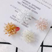 ハンドメイド 白 花編みビーズ ビーズ資材 アクセサリー素材 アクセサリーパーツ アクセサリーチャーム