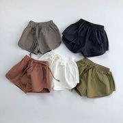 新作 全3色 子供 コットン素材 半ズボン ボトムス パンツ 女の子男の子 キッズ 子供服