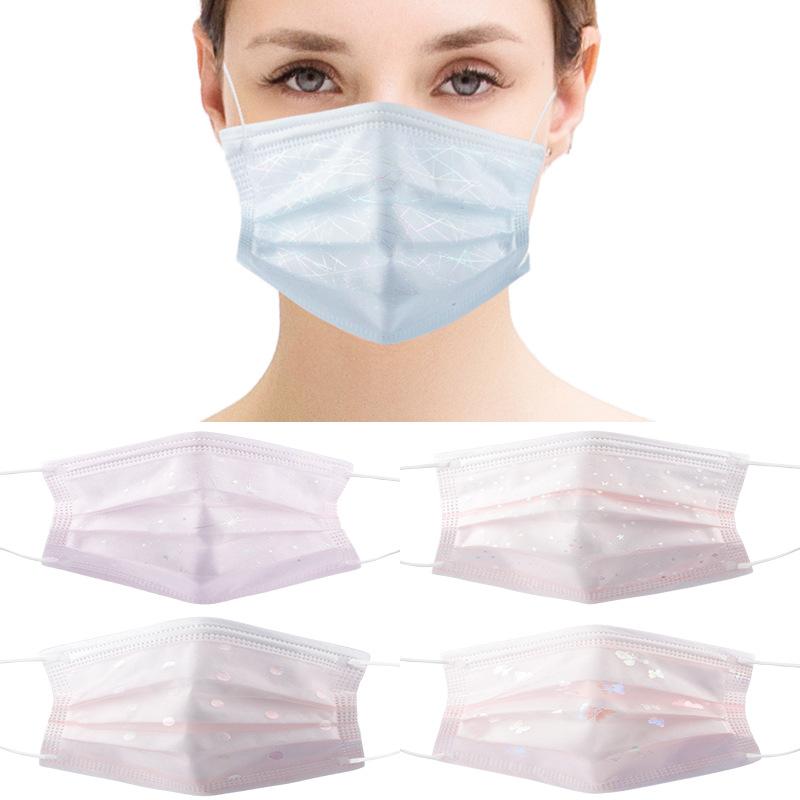 不織布マスク 大人マスク 男女兼用マスク  通気性 使い捨てマスク4層保護 春夏マスク