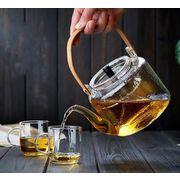 事務室  ガラス  煮茶  蒸茶  壺  家庭  耐熱性  梁急須   大容量