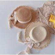 新入荷★キッズ帽子★女の子★春夏 帽子★ハット★草わら帽子★日焼け止め帽子★2色