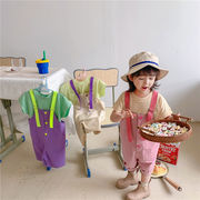 m17696 ズボン オーバーオール カジュアル 2021新作 人気商品 キッズ SALE  韓国子供服 動画あり