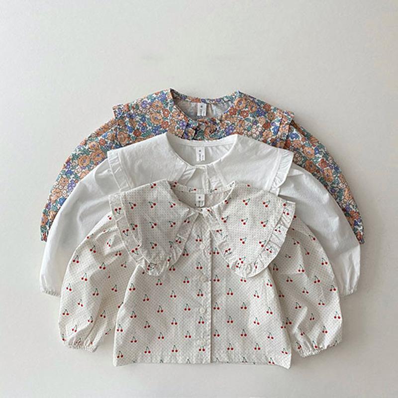 【KID】2021年春夏新作 子供服 ベビー服 花柄ブラウス シャツ 可愛い 韓国風
