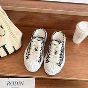 解 キャンバス 白い靴 女 年 新しいデザイン 春夏季 トウ 複数色 半ドラッグ 靴