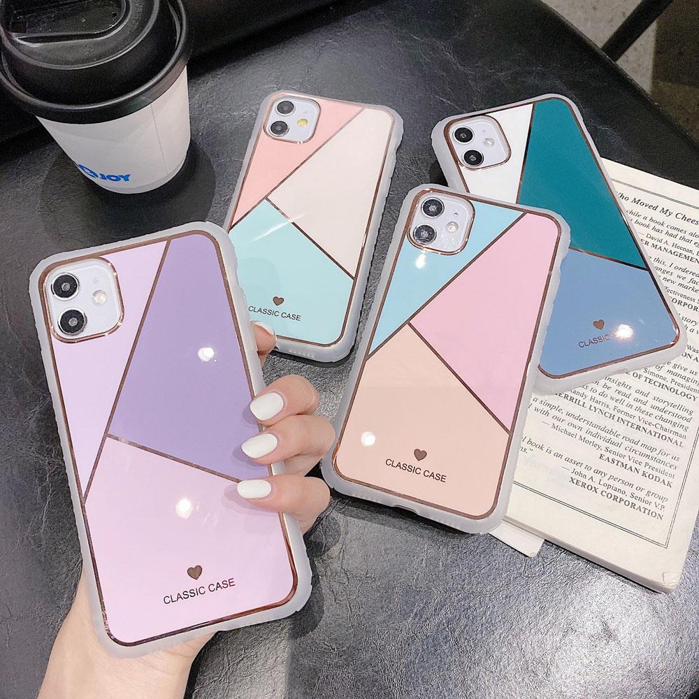 マーブル風 スマホケース iphone ケース 韓国 iPhone6~iPhone12 ProMaxケースカバー