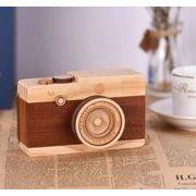 超可愛い撮影装具 音楽が出る 道具 木製カメラ 撮影 おもちゃ 可愛い
