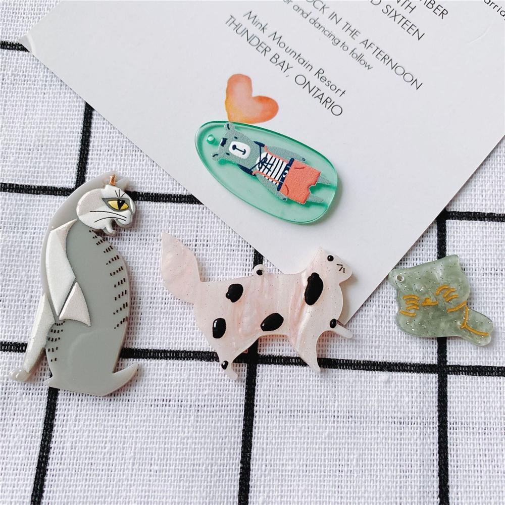 ハンドメイド 猫 アクリル製 アクセサリーパーツ ねこ アクリル パーツ ネコ デコパーツ にゃんこ 熊 クマ