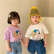 韓国風 夏新作 子供 Tシャツ 人気 トップス ブラウス 半袖 可愛い ファッション