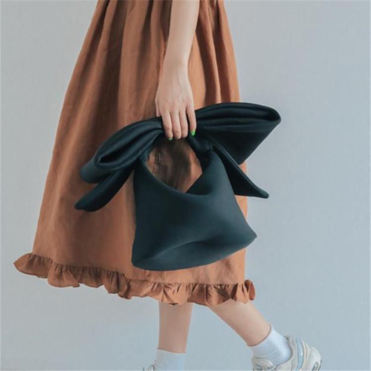 大人のキレイを求めて 韓国ファッション 凹型 ショルダーバッグ コスメティックバッグ 可愛い 蝶結び