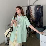 韓国 韓国ファッション レディース シャツ ジャケット メンズライク サマー