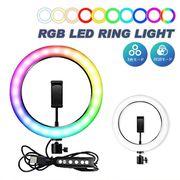 RGB LEDリングライト リングライト 撮影 スマホ 配信 撮影機材