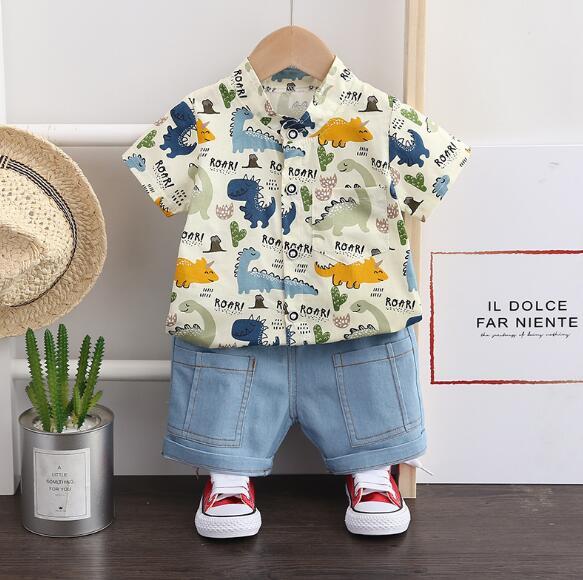 夏新作 2点セット シャツ+パンツセット 男の子 子供服 キッズ   韓国ファッション カジュアル系