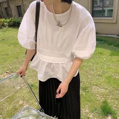 2021年春夏新作 レディース 韓国風 シャツ ブラウス 無地 通勤 気質 ファッション 2色フリー