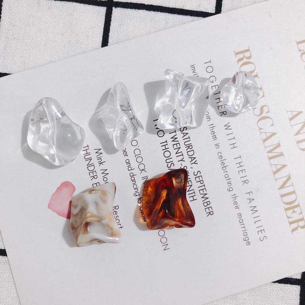 アクリル マーブル ビーズ アクセサリー ハンドメイド 氷 天然石風 クリア アクセサリーパーツ DIY