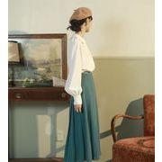 タイムセール限定価格 韓国ファッション  シャツ ランタンスリーブ ゆったりする 怠惰な風 トップス