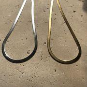 ステンレスネックレス チョーカー スネークチェーン ゴールド シルバー  gold silver ◆メール便対応可◆