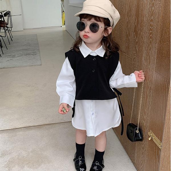 【KID】韓国風子供服 ベビー服  シャツ+ベスト キッズ  韓国ファッション カジュアル系
