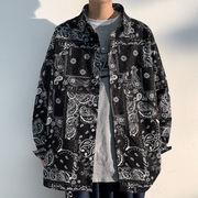 メンズ 長袖シャツ シャツ カジュアル 渋谷風 男女兼用 大きいサイズ ストリート系 ブラック